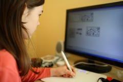Apprentissage sur internet Photographie stock