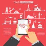 Apprication de mobile de voyage Images libres de droits