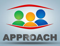 Approach. Communication concept with sign and text Royalty Free Stock Photos