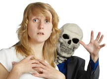 Approach of death is terrible Stock Images