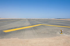 Approach lights at an airport runway Stock Image