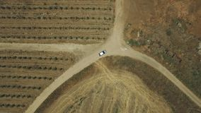 Approach to the car from the satellite. GPS car tracking Stock Photos