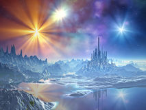 Approach to the Ice Kingdom stock illustration