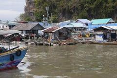 Approach to Koh Panyi from Phang Nga Bay Stock Photography