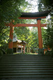 An approach to a shrine Royalty Free Stock Photo