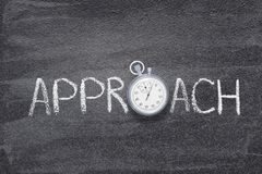 Approach Word Watch Royalty Free Stock Images