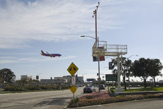 Approaching aircraft to LAX Royalty Free Stock Photography