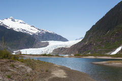 Approaching Alaska's Mendenhall Glacier Royalty Free Stock Images