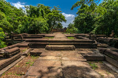 Approaching Banteay Samre, a grand entrance Stock Image