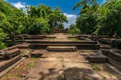 Approaching Banteay Samre, a grand entrance Stock Image