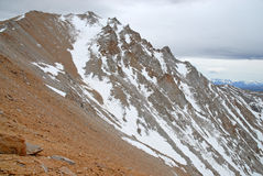 Approaching Boundary Peak in the White Mountains, Nevada 13er and state high point Royalty Free Stock Image