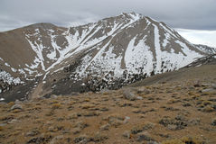 Approaching Boundary Peak in the White Mountains, Nevada 13er and state high point Royalty Free Stock Photo