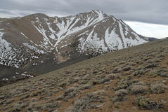Approaching Boundary Peak in the White Mountains, Nevada 13er and state high point. On California border across from Sierra Nevada Mountains stock photos