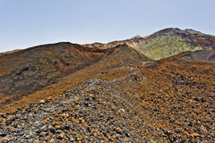 Approaching Craters of Pico Viejo in Tenerife Island Stock Photos
