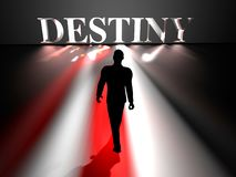 Approaching Destiny stock illustration