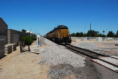 Approaching Freight Train Royalty Free Stock Image