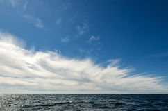 Approaching gale. On the ocean Stock Photo