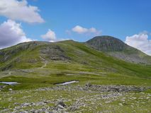 Approaching Green and Great Gable, Lake District Royalty Free Stock Photos