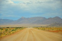 Approaching high land in Namibia Stock Photography