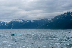 Approaching the Hubbard Glacier in Alaska. The approach to the Hubbard Glacier in Alaska stock photos