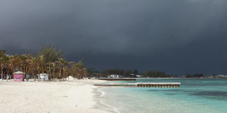 Approaching hurrican in bahamas Royalty Free Stock Photography