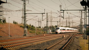 Approaching ICE highspeed train stock footage