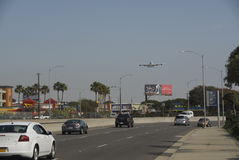 A380 approaching LAX airport Los Angeles. Stock Image
