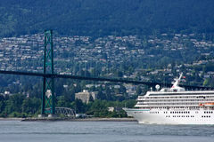 Approaching Lions Gate Bridge Stock Photography