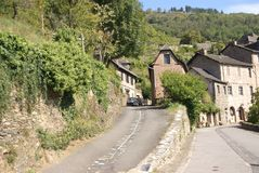 Approaching the medieval hill town Royalty Free Stock Photo