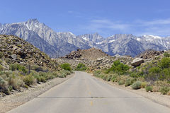 Approaching Mount Whitney and the Eastern Sierra Royalty Free Stock Image