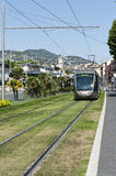 Approaching Nice France Tram Royalty Free Stock Photography