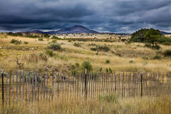 Approaching October Storm in New Mexico. A storm approaches across the vast desert in October in New Mexico Stock Photography