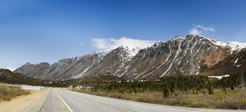 Approaching the Rainbow Ridge. This is one of the most colorful ridges in Alaska Range. It is easily accessible, but rarely I've seen pictures of it with nice Royalty Free Stock Image