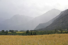 Approaching Rainstorm in the Rocky Mountain Foothills Stock Image