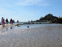 Approaching Saint Michael's Mount Royalty Free Stock Photos