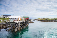 Approaching a small harbor in Northern Norway Royalty Free Stock Image