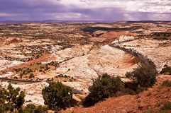 Approaching Storm. This is an approaching storm along Highway 12 in Southern Utah in the Grand Staircase-Escalante National Monument Stock Photography