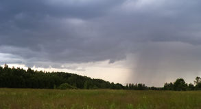 Approaching storm. Cloud with rain summer day Stock Photos