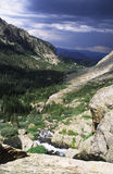 Approaching storm in Colorado Rocky mountains Royalty Free Stock Image