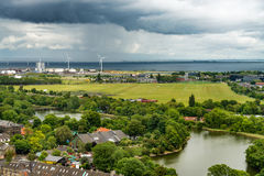 Approaching storm in Copenhagen. Summer storm approaching the shore of Copenhagen Royalty Free Stock Photo