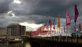 Approaching Storm. Darling Harbour Sydney. Stock Photography