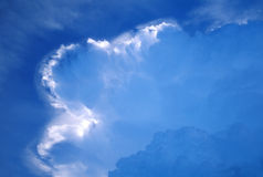 Approaching storm front. Thunderhead forming stock images