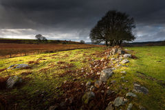 Approaching storm over Brecon, South Wales UK royalty free stock images