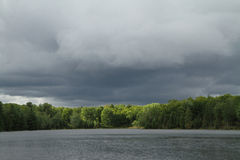 Approaching Storm Over Lake Stock Photo