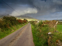 Approaching storm. Somewhere on the Dingle peninsula in Ireland Stock Image