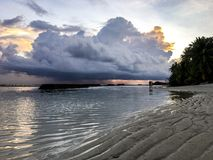 The Approaching Storm. View from the beach as a tropical storm sweeps in Royalty Free Stock Photography