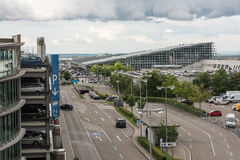 Approaching Stuttgart Airport Royalty Free Stock Photos