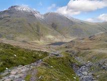 Approaching Styhead Tarn, Lake District Royalty Free Stock Photography