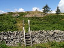 Approaching summit of Black Crag, Lake District Royalty Free Stock Photo