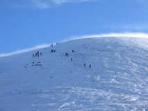 Approaching the summit, Glenshee Royalty Free Stock Image